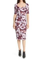 Ted Baker London Heike Pergola Floral Print Body-Con Dress