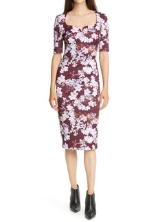 Ted Baker London Heike Pergola Floral Print Body-Con Dress