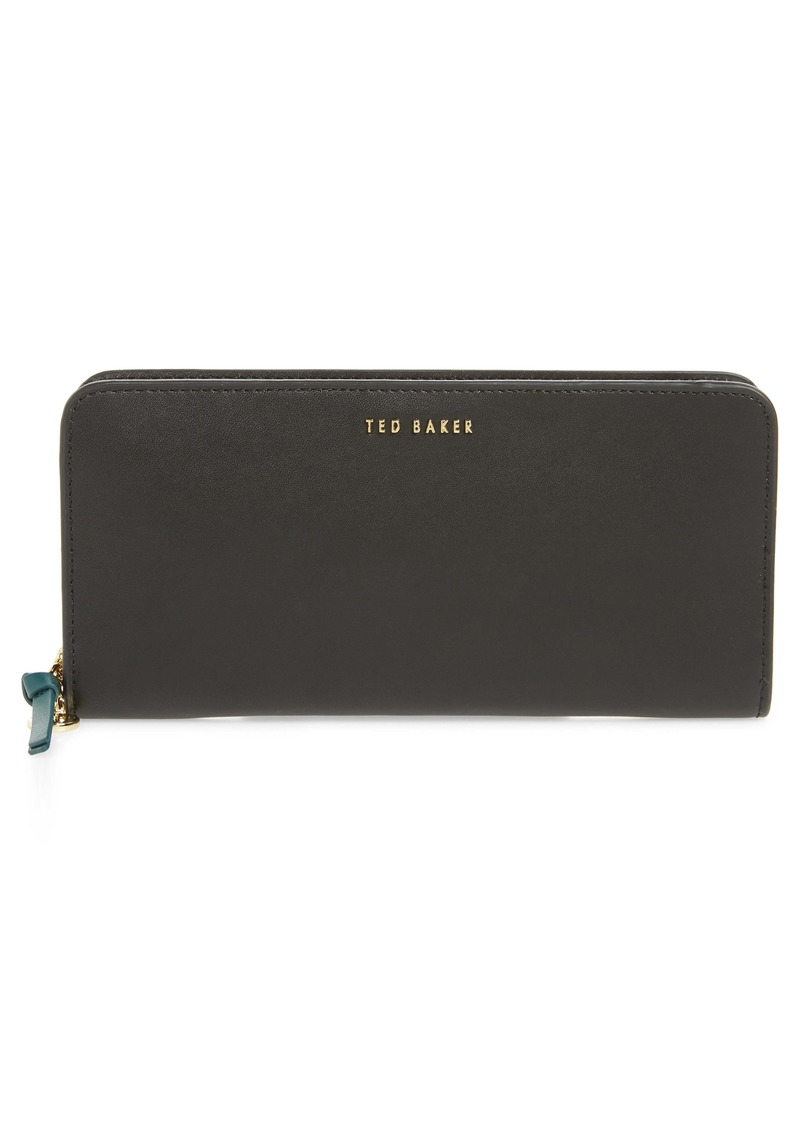 Ted Baker London Heloise Smooth Leather Zip Matinée Wallet