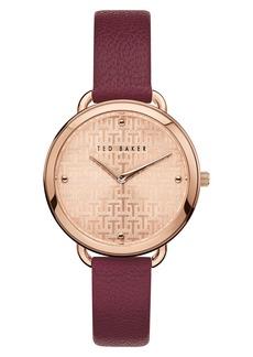 Ted Baker London Hettie Leather Strap Watch, 37mm
