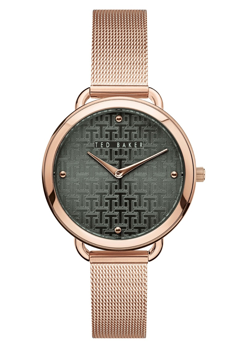 Ted Baker London Hettie Mesh Strap Watch, 37mm