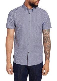 Ted Baker London Hibiscus Flower Slim Fit Short Sleeve Shirt