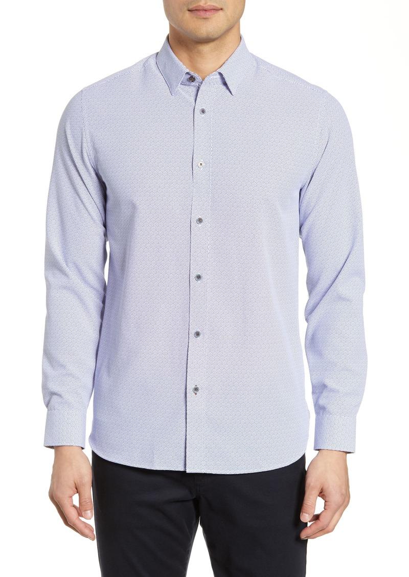 Ted Baker London Hiena Slim Fit Geo Print Shirt