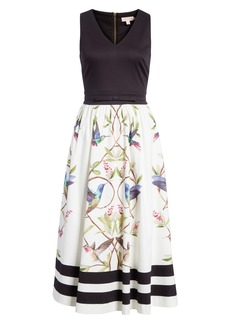 Ted Baker London High Grove Fit & Flare Dress