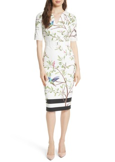 Ted Baker London Highgrove Body-Con Dress