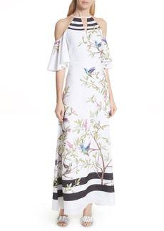 Ted Baker London Highgrove Cold Shoulder Maxi Dress