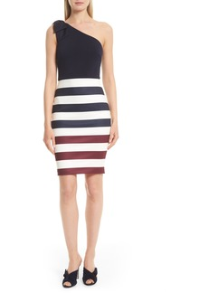 Ted Baker London Hilila One-Shoulder Rowing Stripe Dress