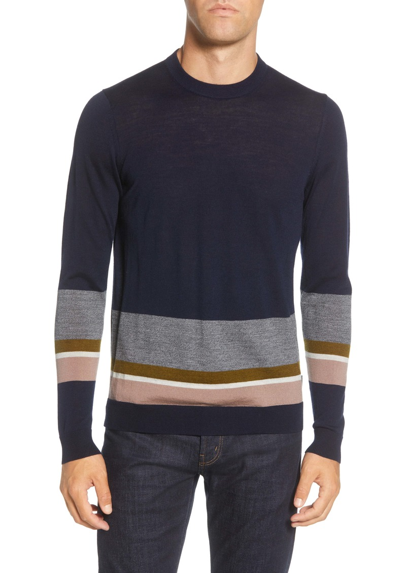 Ted Baker London Host Colorblock Stripe Sweater