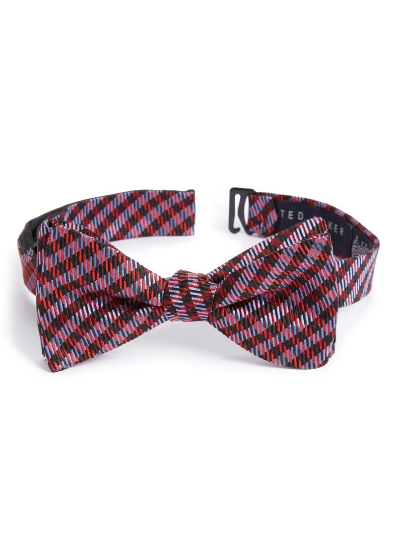 Ted Baker London Houndstooth Silk Bow Tie