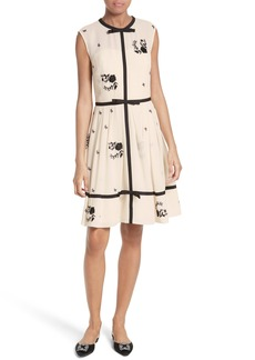 Ted Baker London Ilvy Embroidered Fit & Flare Dress