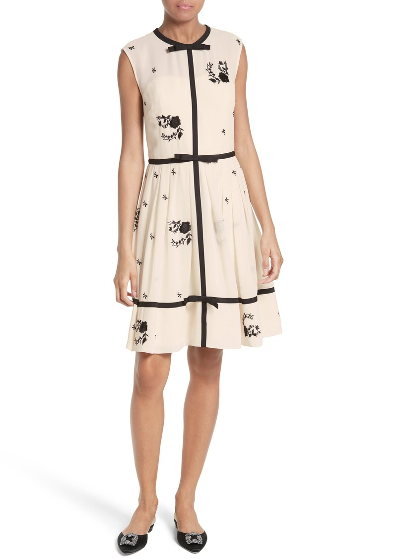 5480128fea60 Ted Baker Ted Baker London Ilvy Embroidered Fit   Flare Dress