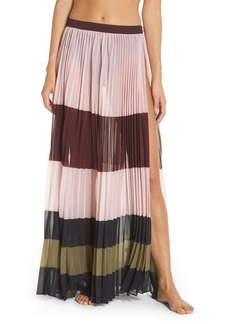 Ted Baker London Imperial Stripe Pleated Cover-Up Maxi Skirt