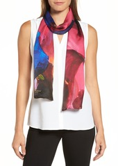 Ted Baker London Impressionist Bloom Silk Skinny Scarf