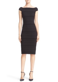 Ted Baker London 'Inan - Bardot' Stripe Texture Body-Con Dress