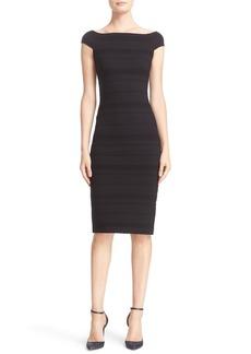 Ted Baker London 'Inan - Bardot' Stripe Texture Body-Con Dress