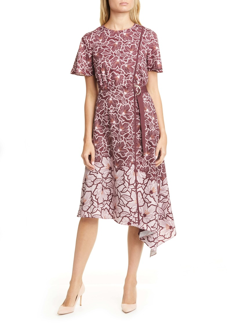 Ted Baker London Indigoo Amber Floral Asymmetrical Dress