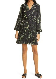 Ted Baker London Izziiy Floral Print Pleated Minidress