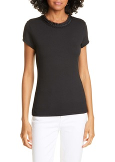 Ted Baker London Jacii Embellished Neck Fitted Tee