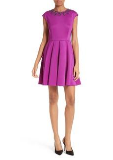 Ted Baker London J'adore Embellished Fit & Flare Dress