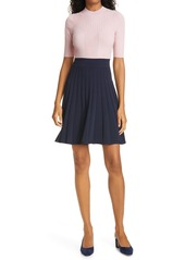 Ted Baker London Jaelinn Colorblock Fit & Flare Sweater Dress