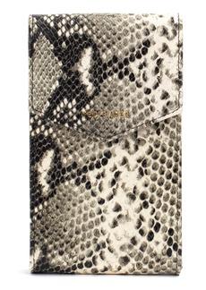 Ted Baker London Jaelle Python Embossed Leather Phone Crossbody Bag