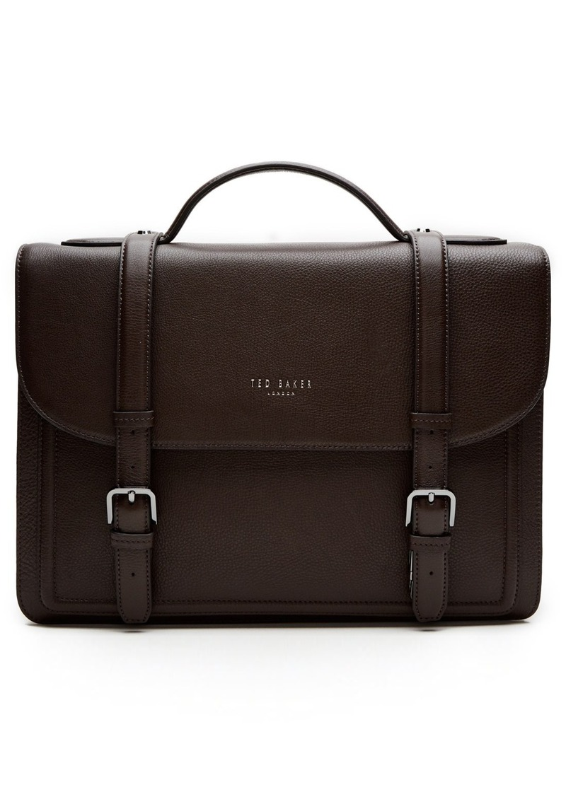 Ted Baker London 'Jagala' Pebbled Leather Messenger Bag