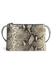 Ted Baker London Jamelia Exotic Double Zip Leather Crossbody Bag