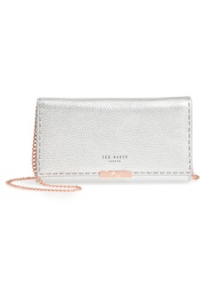 Ted Baker London Janet Metallic Leather Crossbody Matinée Wallet on a Chain