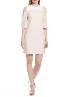 Ted Baker London Janoo Cold Shoulder Shift Dress