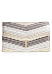 Ted Baker London Jasicca Quilted Chevron Leather Clutch