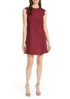 cdd1b04f0 Ted Baker Ted Baker London Contrast Scallop Overlay A-Line Dress