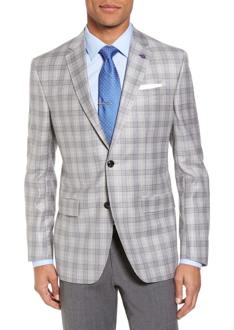beec6e64ed16 Ted Baker Ted Baker London Jay Trim Fit Plaid Wool Sport Coat