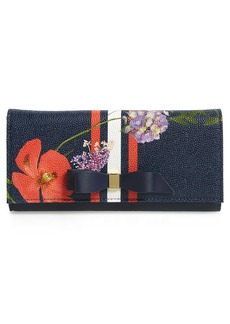 Ted Baker London Jeano Hedgerow Leather Matinee Wallet
