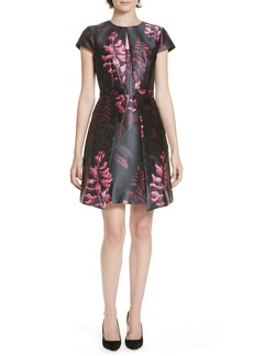 Ted Baker London Jebby Splendor Jacquard Fit & Flare Dress