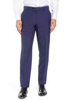 Ted Baker London Jefferson Flat Front Solid Wool Dress Pants