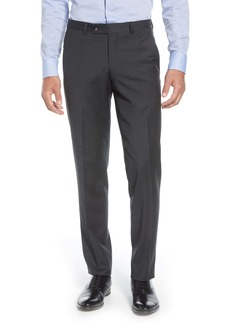 Ted Baker London Jerome Flat Front Solid Wool Dress Pants