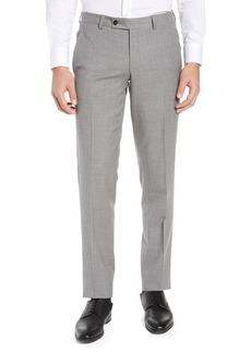 130ca96db4eff Ted Baker London Jerome Flat Front Solid Wool Trousers