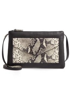 Ted Baker London Jessiee Exotic Leather Crossbody Bag
