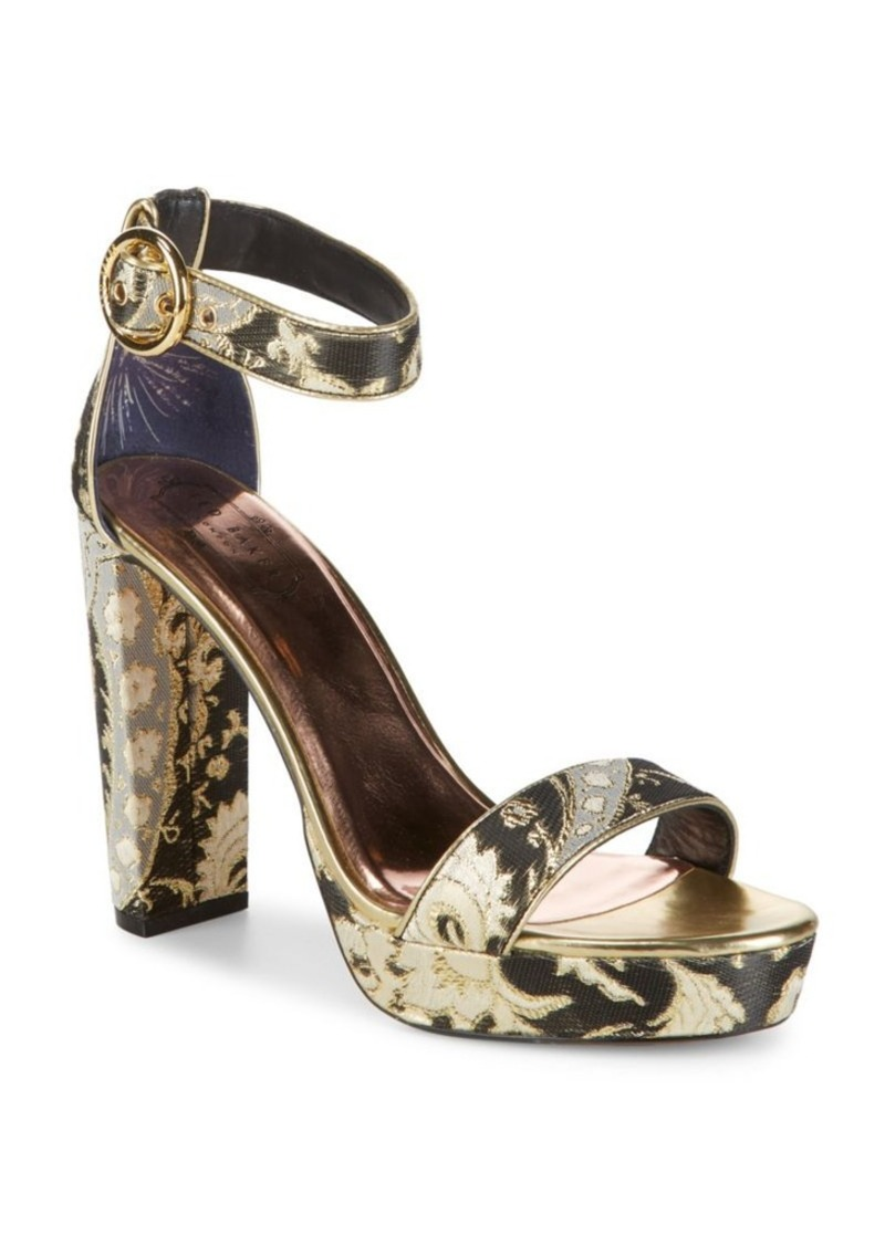 Ted Baker Ted Baker London Jewell Metallic Ankle-Strap Sandals