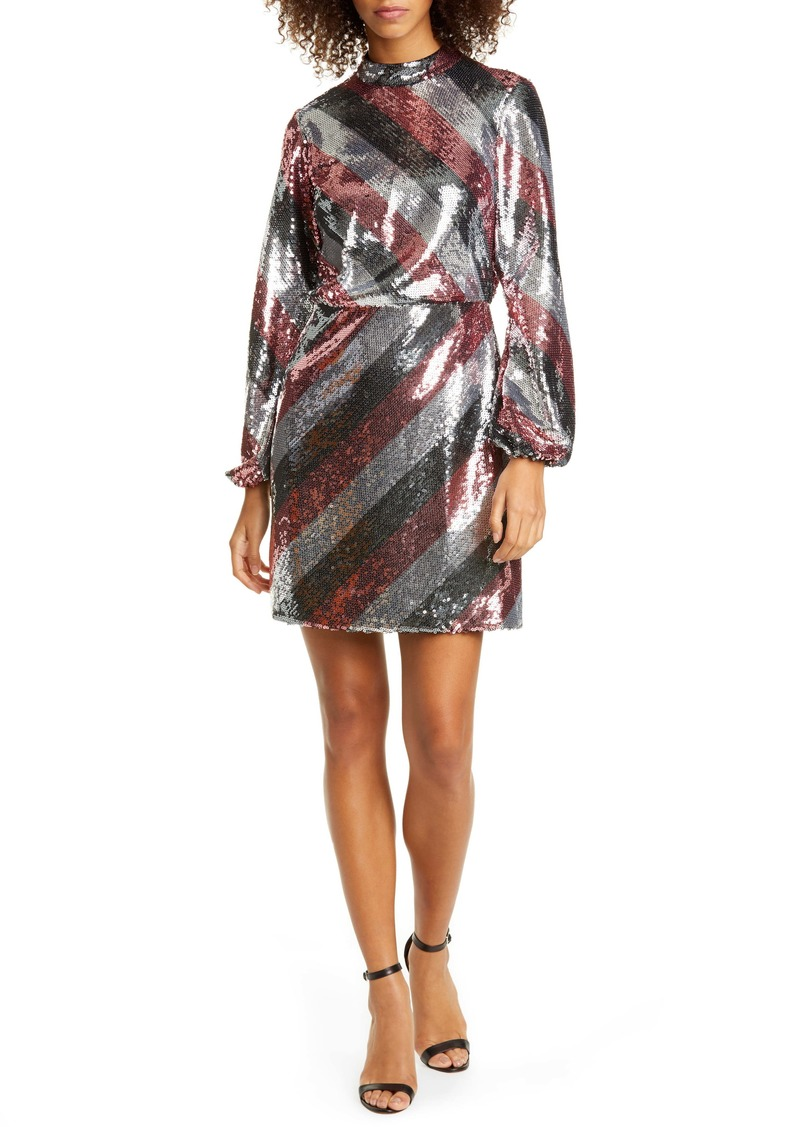 Ted Baker London Jocasta Stripe Sequin Minidress