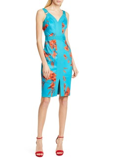 Ted Baker London Jordja Fantasia Panel Body-Con Dress