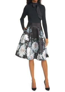 Ted Baker London Jordynn Long Sleeve Fit & Flare Dress