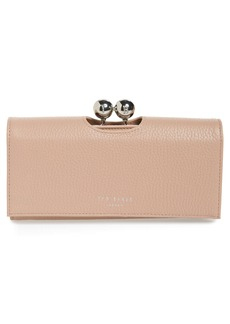 Ted Baker London Josiey Bobble Scripted Leather Matinée Clutch
