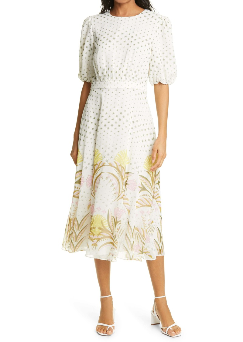 Ted Baker London Joulia Print Fit & Flare Dress