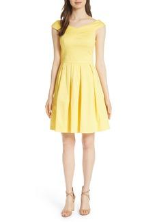 Ted Baker London Jullee Off the Shoulder Stretch Cotton Dress