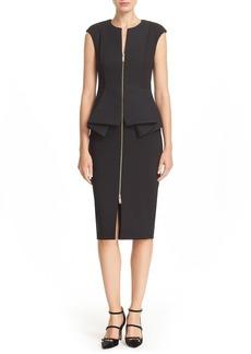 Ted Baker London Jumana' Zip Front Peplum Sheath Dress