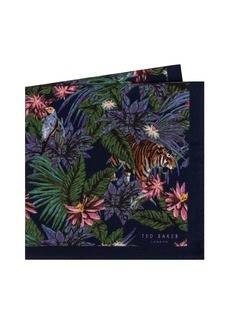 Ted Baker London Jungle Print Wool Pocket Square