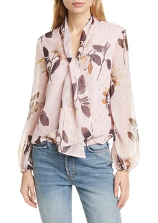Ted Baker London Juudith Savanna Tie Neck Blouse