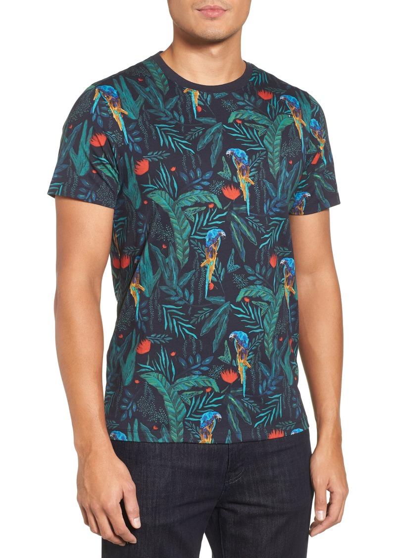 63954193d5c3ce Ted Baker Ted Baker London Kaane Parrot Print T-Shirt