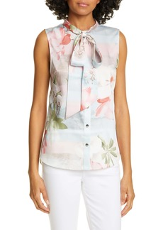 Ted Baker London Kaileye Tie Neck Top